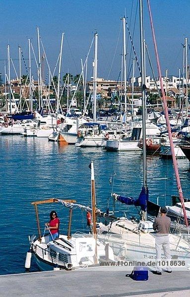 Canet D´En Berenguer. Puerto de Siles. Marina. Valencia Provinz. Spanien.