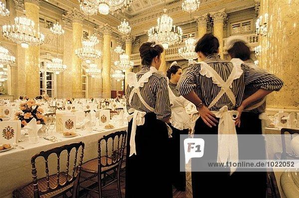 Vorbereitung den Emperor´s Ball. Hofburg. Wien. Österreich