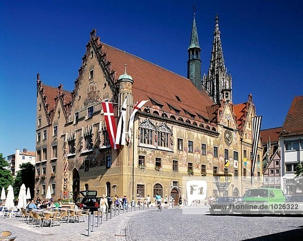 Deutschland  Ulm  Baden-Württemberg  Gothic  Minster Rathausturm  Kirchturm