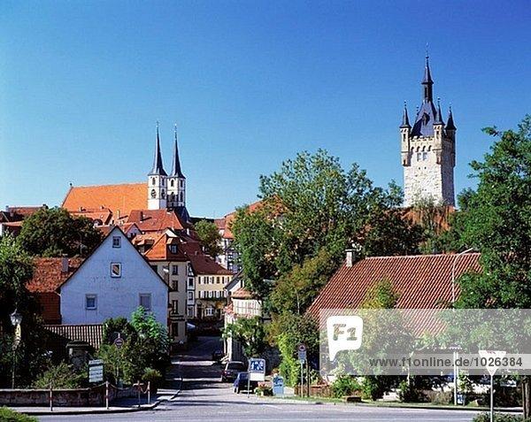 Blick auf die Stadt Bad Wimpfen  Neckar  Baden-Württemberg  Deutschland