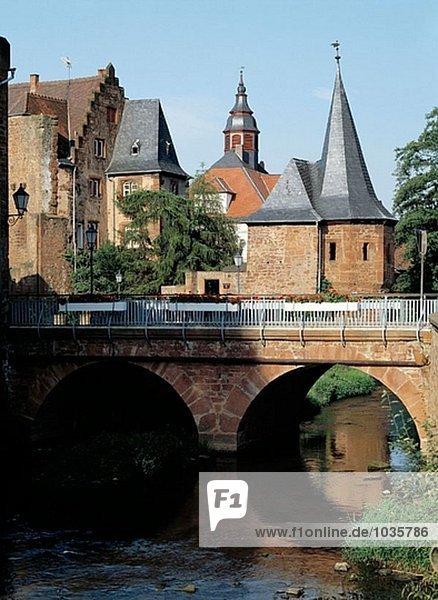 Büdingen  Wetterau  Hessen  Brücke