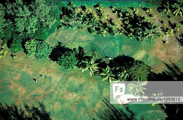 Aerial Pointe Aux Piments Golfplatz. Westküste. Mauritius