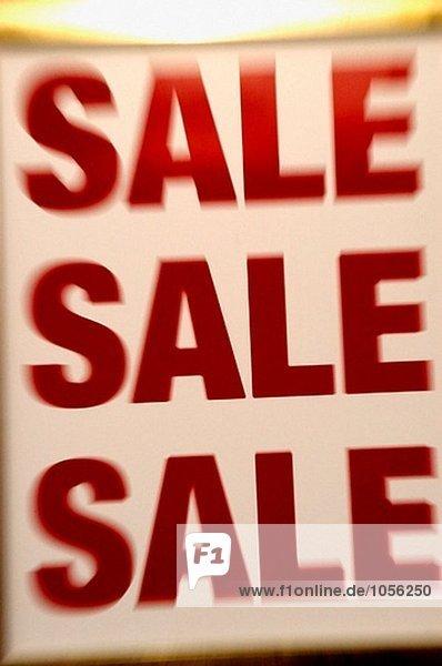 Verkauf Zeichen