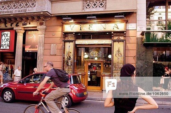 Las Ramblas. Barcelona. Catalonia. Spanien