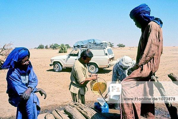 Wadi Maro gut. Borkou Region. Sahara-Wüste. Tschad