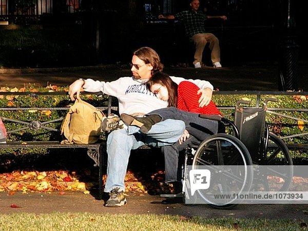 Mann und behinderten Frau in New Orleans  Louisiana