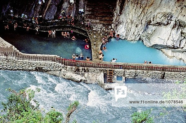 Die Taroko Schlucht im Taroko-Nationalpark. Die Wenshan Hotsprings. Hualien Region. Taiwan  Republik China.