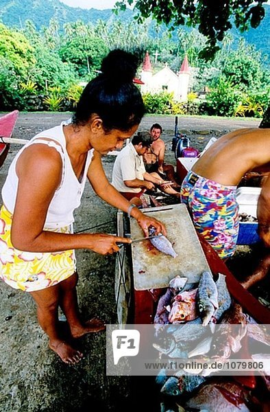 Nuku Hiva Insel. Marquesas Archipels. Französisch-Polynesien