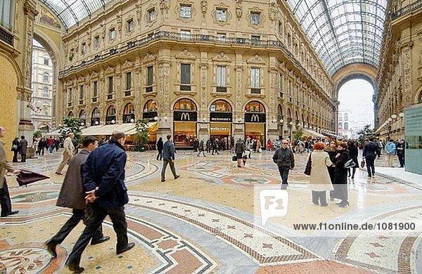 Vittorio Emanuele II Galerie. Mailand. Lombardei  italien