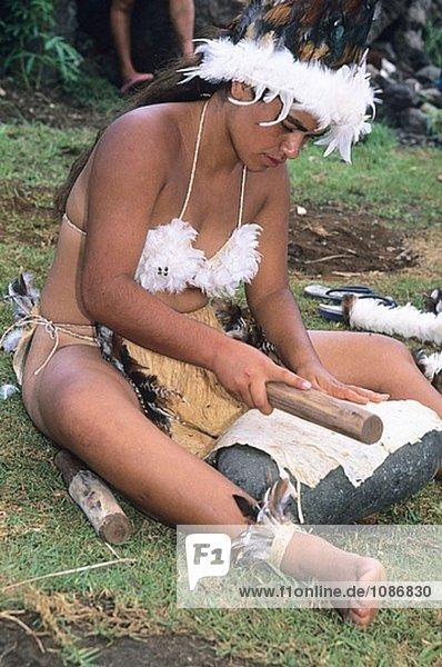 Osterinsel Rapa Nui Vorbereitung Festival Raps Brassica napus Chile Faser
