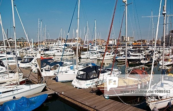 UK. Hampshire. Southampton  Ocean Village Marina