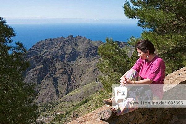 Ermita del Santo Standpunkt in Arure. La Gomera  Kanarische Inseln. Spanien