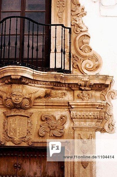 Balkon Palast Schloß Schlösser Andalusien Spanien