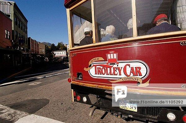 Red Trolley wagen. Juneau. Alaska. USA