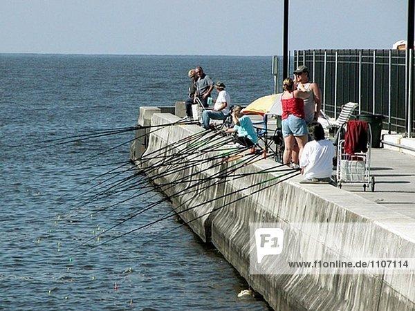 Fischerei auf Lake Okeechobee. Florida. USA.