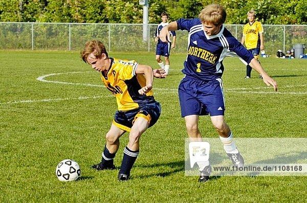High School fussball Futbol Fußball-Action. Port Huron. Michigan. USA
