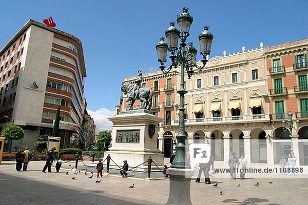 Plaça de Prim. Reus. Provinz Tarragona  Spanien