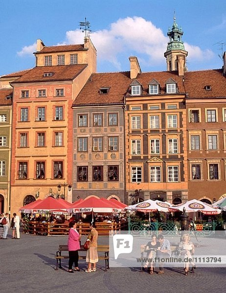 Warschau Hauptstadt Stadt Quadrat Quadrate quadratisch quadratisches quadratischer Markt alt Polen