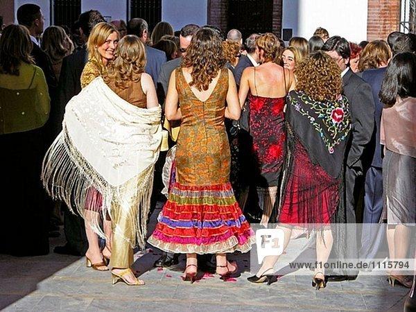 Hochzeit. Stadt Sevilla. Andalusien. Spanien