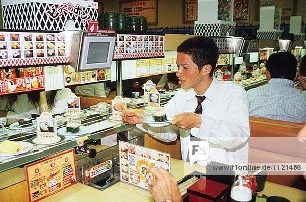 Restaurant. Kobe. Kansai. Japan.