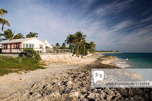 Strand Stadt Ansicht Bahamas Hoffnung