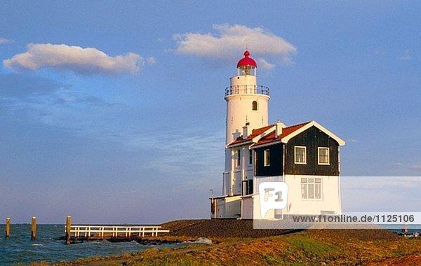 Lighthouse. Marken. Netherland.