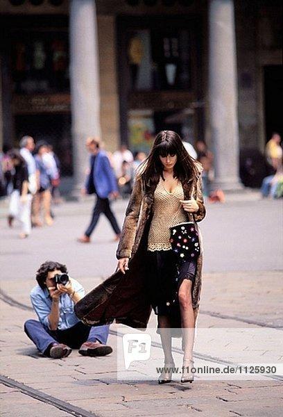 Mode-Shooting für Harpest Bazar Magazin. Mailand  Lombardei  Italien