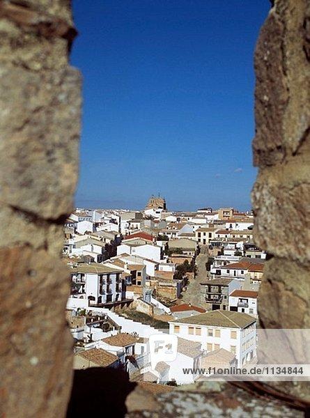 Palast Schloß Schlösser über Ansicht begraben Andalusien Spanien