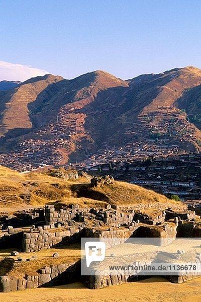 Wände in Sacsahuaman. Cuzco. Peru