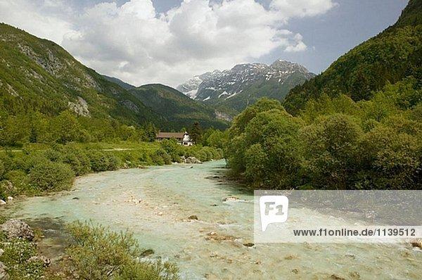 Wasser Fluss Alpen türkis Slowenien