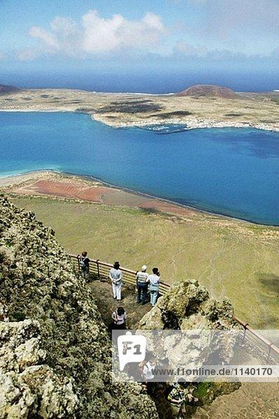 La Graciosa Insel von Lanzarote  Kanarischen Inseln gesehen. Spanien