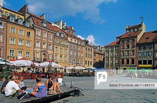 Rynek Starego Miasta (Markt Altstädter)  Warschau. Polen