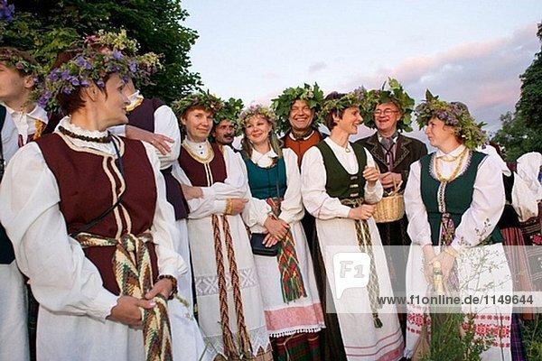 Mittsommer Tag  fest von St. Johannes in Kernave. Litauen