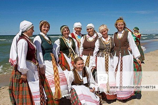 Folklore-Festival  Nida. Kurische Nehrung  Litauen