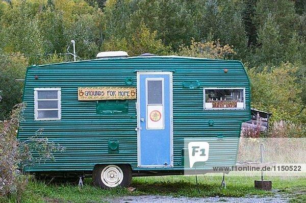 ´Grounds für Hope´ Anhänger. Coffee-Shop. Hoffnung. Kenai-Halbinsel. Alaska. USA.