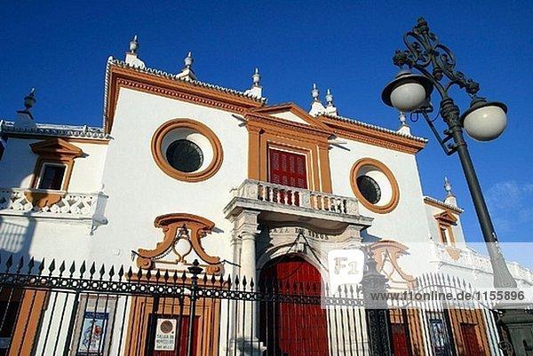 Stierkampfarena La Maestranza  Sevilla. Andalusien  Spanien