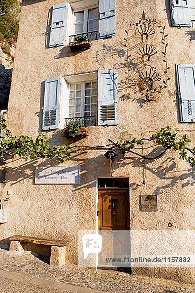 Frankreich Geschichte Dorf Provence - Alpes-Cote d Azur befestigen Moustiers-Sainte-Marie