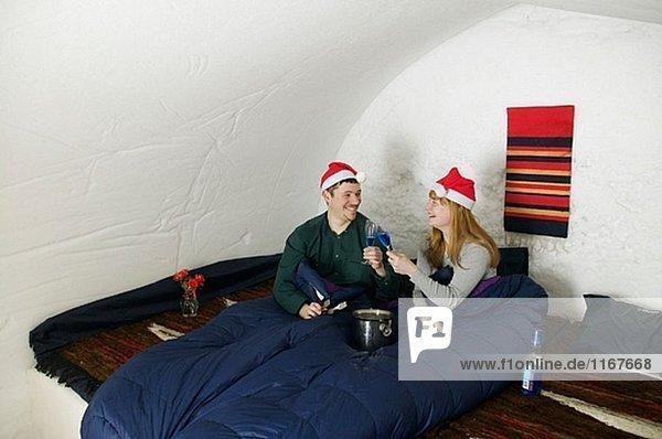 Weihnachtsmann Zimmer Hut Hotel Iglu