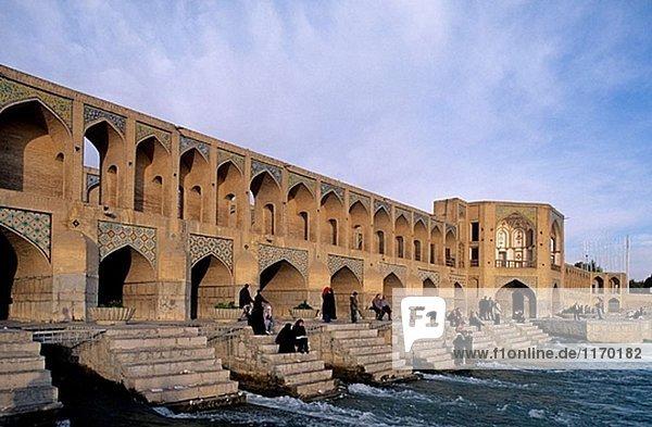 Khaju-Brücke. Ispahan. Iran.