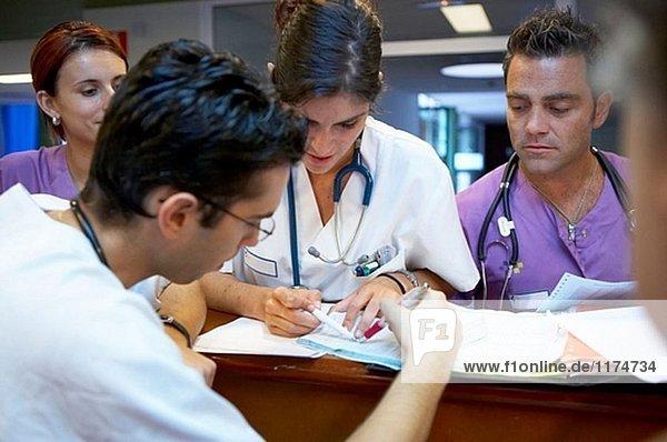 Notaufnahme  Steuerelement Zähler. Hospital Universitario Gran Canaria Arzt Negrin  Las Palmas de Gran Canaria. Kanarische Inseln  Spanien