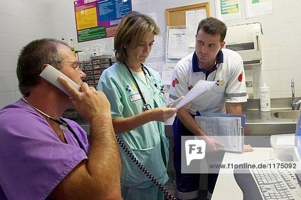 Notaufnahme. Hospital Universitario Gran Canaria Arzt Negrin  Las Palmas de Gran Canaria. Kanarische Inseln  Spanien