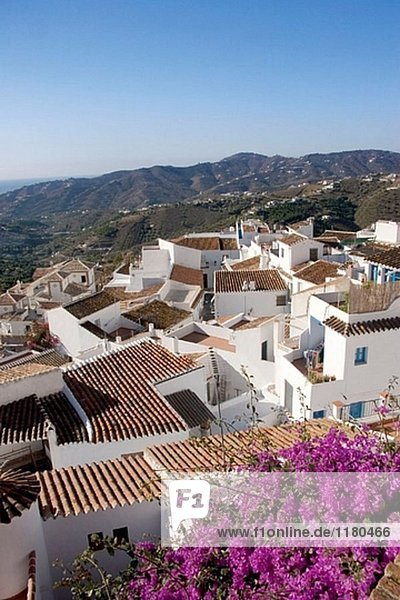 The white pueblo (village) of Frigiliana. Málaga province. Spain.