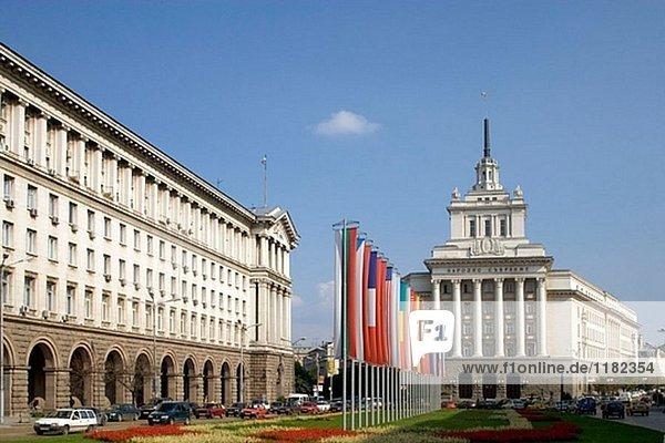 Ministerrat und kommunistischen Partei Gebäude  Sofia. Bulgarien