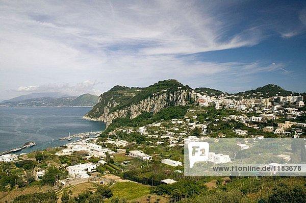 Hafen Ansicht Bucht Kampanien Capri Italien Neapel