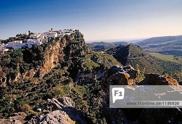 weiß Dorf Andalusien Casares Spanien