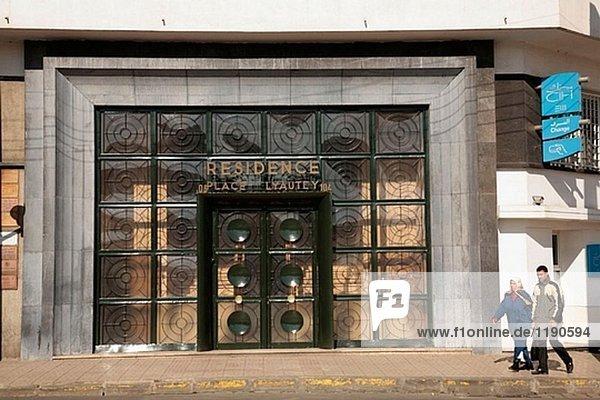 Tür Gebäude Casablanca Marokko