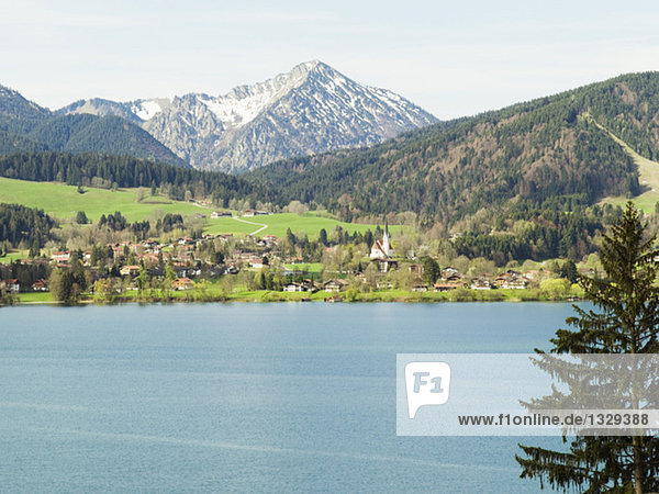 Germany  Bavaria  Tegernsee and mountains