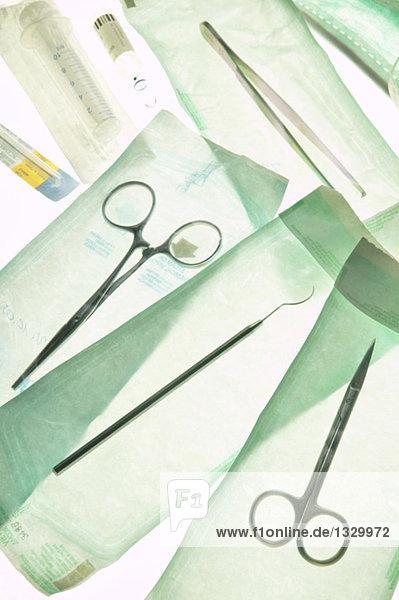Chirurgische Werkzeuge  Nahaufnahme