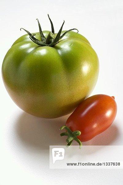 Grüne Fleischtomate und Eiertomate