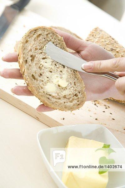 spreading bread